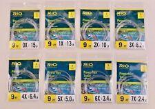 Rio Powerflex Trout 9 Ft 3 Pack Taper Leader All Sizes 0x 1x 2x 3x 4x 5x 6x 7x