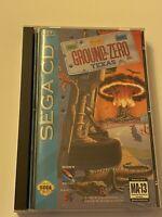 🔥 Ground Zero Texas (Sega CD, 1993) MIB - TESTED & WORKS 💯 COMPLETE GAME