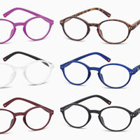 New READING GLASSES Soft-touch Oval/Round BLACK/Red/Blue/Brown +1.0+1.5+2+2.50+3