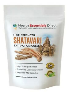 Shatavari Capsules - High Strength Extract 20% Saponins (Asparagus Racemosus)