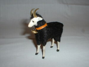 Early German Composition Christmas Putz Wooly Ram Sheep