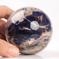500g 70mm Large Natural Blue Sodalite Crystal Sphere Healing Ball Chakra