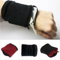 Wristband For Running Sport Gym Travel Zipper Pouch Wallet Key Money Coin Pocket