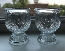 Vintage Avon Glass Reversible Diamond/Pineapple Candle Holders(2)New