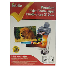 INKRITE PROFESSIONAL PHOTO PAPER / PHOTO GLOSS / 210GSM / A4 / 20 SHEETS