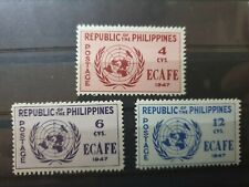 More details for philippines 1947 conference of economic commission 3 stamp  set mnh