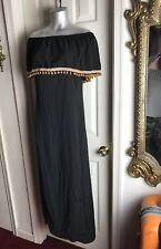 NEW MLLE GABRIELLE Off Shoulder Peasant Pom-Pom Boho Mexican Dress -Plus Size 3x
