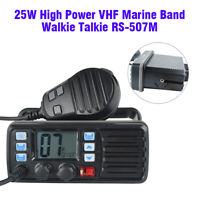 VHF Waterproof Weather Alert FM Marine Boat Amateur Ham Mobile Radio Transceiver