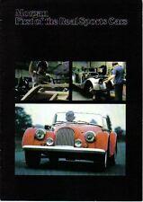 Morgan PLUS 8 y 4/4 1600 2 & 4 asientos Circa 1978-79 Original Folleto De Ventas Reino Unido
