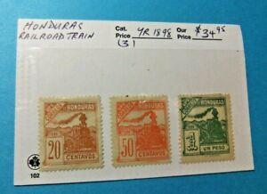 3 Honduras Stamps - 1898