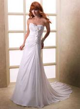 Chiffon A-line Unbranded Strapless Wedding Dresses