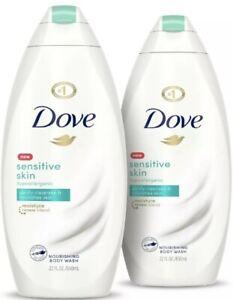 2 Dove Sensitive Skin Nourishing Body Wash 22 FL OZ
