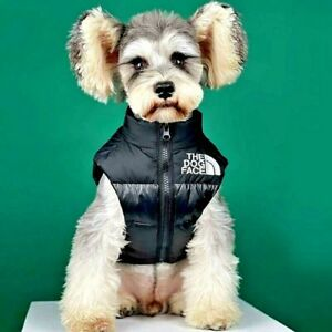 DOG Face Warm Spring Down Jacket VEST Doggo Puffer Puppy Waterproof