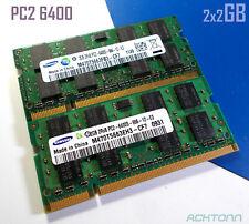 Samsung DDR2 PC2 4GB RAM Lot 2x2GB SODIMM Laptop Memory DDR2 800