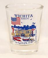 WICHITA KANSAS GREAT AMERICAN CITIES COLLECTION SHOT GLASS SHOTGLASS