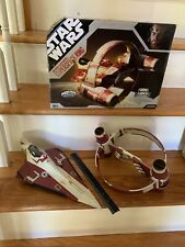 Star Wars Obi-Wan's Starfighter and HYPERSPACE RING Toys R Us TRU Exclusive 30TH