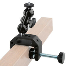 """1/4""""Ball Head Mount Articulating Arm with C-Clamp Table for Dslr light camera"""