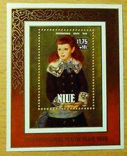 H3   Niue 1985 Block 93 Mi 637 Renoir Marthe Berard Art Kunst Painting Gemälde
