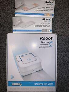 iRobot Braava jet 240 Robot Mop App Controlled Mopping Robot -W/ Dry & Damp Pads