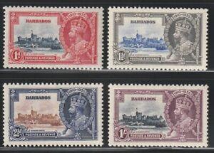 Barbados  1935   Sc # 186-89   Silver Jubilee   MLH   OG   (4004-7)
