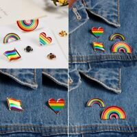 Chic Rainbow LGBT Gay Pride Peace Enamel Piercing Brooch Pin Badge Friend Gift