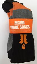 NEW MENS SCRUFFS PACK OF 3 COTTON TRADE SOCKS QUALITY THICK WORK SIZE 7 -9.5 UK
