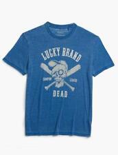Lucky Brand Men's Baseball Skull Tee Shirt 7Mdg0244 Medium M Nwt $40
