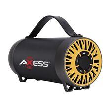 BRAND NEW Axess SPBT1056-YL Bluetooth Media Speaker w/ USB (Yellow)