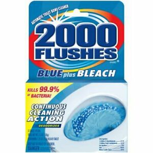 2000 Flushes 208017 Blue Plus Bleach Antibacterial Automatic Toilet Bowl