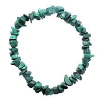 CHARGED Premium Malachite Crystal Chip Stretchy Bracelet Healing Energy REIKI