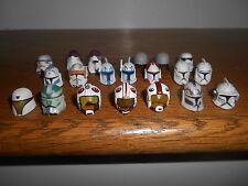 "STAR WARS Lot of 20 Clone Trooper/Stormtrooper/Pilot HELMETS for 3-3/4"" figures"