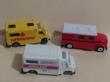 Maisto Emergency Ambulance Lifeguard Trucks Diecast 1/64 (Lot Of 3)