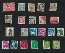 JAPAN Old Stamps - Lot of 22 used stamps.