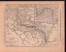 WWI Map Carte Bulgaria Serbia Italy Romania Greece Hungary 1917 ILLUSTRATION