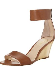 NWT Fergie Women's Fizz Wedge Sandal Camel 8