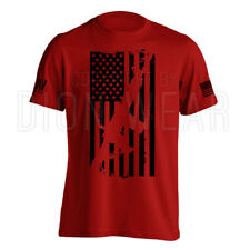 AR15 American Flag M4 Men's Military American Flag T-Shirt