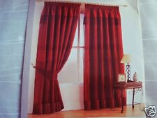 Luxury Lined Voile Embroidery Curtains Burgundy Color