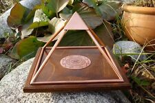 LARGE Copper Pyramid Meru Healing Cleansing Crystals Prosperity Meditation Power