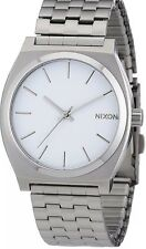 Nixon Time Teller Mens Quartz Stainless Steel Elasticated Strap Watch