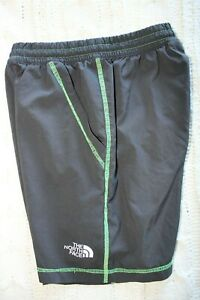 Boys North Face Gray/Green Athletic Shorts Size XS