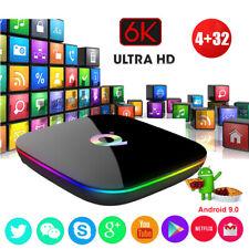 Q plus 6K 4+32G Android 9.0 Smart TV Box Quad Core WIFI Network HDMI2.0 MINI PC