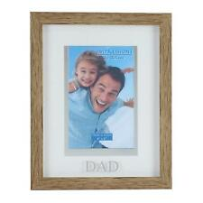 Juliana Natural Wood Effect Plastic Frame with Silver Word - Dad