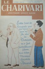HEBDOMADAIRE SATIRIQUE LE CHARIVARI N° 63 de 1927 ARISTIDE BRIAND RAKOWSKI