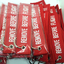 Red Key Ring Remove Before Flight Keychain Pilot Bag Crew Tag Luggage Keyring