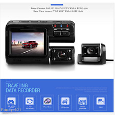 1080P HD Car SUV Off-Road DVR Camera Dual Lens Video Tachograph G-sensor Cam