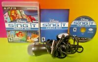 Disney Sing It Family Hits & Mic - (Sony PlayStation 3, 2010) Lion King PS3 Rare