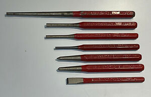 Lot of 7 CRAFTSMAN PUNCHES 42901 42841 42883 42885 42884 42861 W Series Rare Red