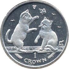 elf IOM Isle of Man 1 Crown 2004 Tonkinese Cat  Kittens  Butterfly
