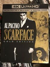 SCARFACE New Sealed 4K Ultra HD UHD + Blu-ray Gold Edition W/ Slip Cover