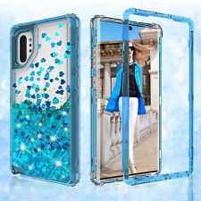 Samsung Galaxy Note 10,Note 10+ Hard Clear Glitter Sparkle Liquid Bling  Case